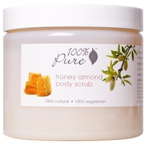 100% Pure Body Scrub Honey Almond