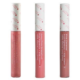100% Pure Fruit Pigmented Lip Glosses Shimmery White Peach