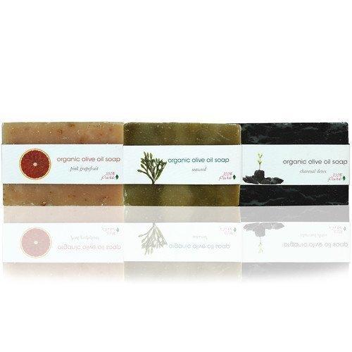 100% Pure Organic Olive Oil Soap Charcoal Detox