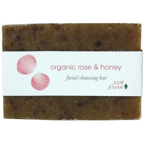100% Pure Organic Rose & Honey Facial Cleansing Bar