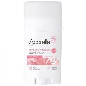 Acorelle Organic Fragrance Free Deodorant Balm 40 G