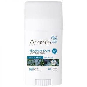 Acorelle Organic Juniper And Mint Deodorant Balm 40 G