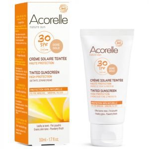 Acorelle Organic Tinted Spf50 Sunscreen Gold 50 Ml