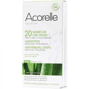 Acorelle Ready To Use Aloe Vera And Beeswax Face Strips 20 Strips