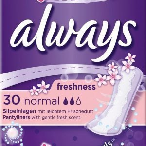 Always Freshness Normal Liner 30 Kpl Pikkuhousunsuoja
