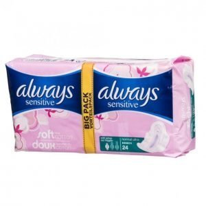 Always Sensitive Normal Plus Terveysside 24 Kpl