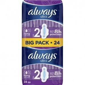 Always Ultra Long Plus Terveysside 24 Kpl