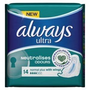 Always Ultra Normal Plus Terveysside 14 Kpl