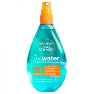 Ambre Solaire Uv Water Clear Sun Cream Spray Spf 20 150 Ml