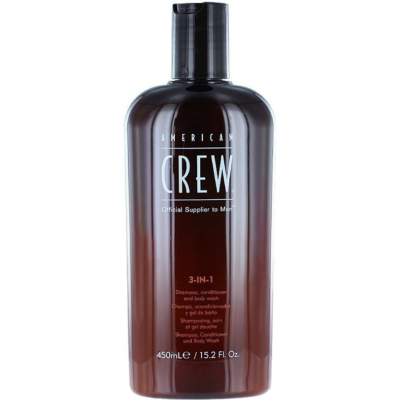 American Crew 3-In-1 Shampoo Conditioner & Body Wash 450ml