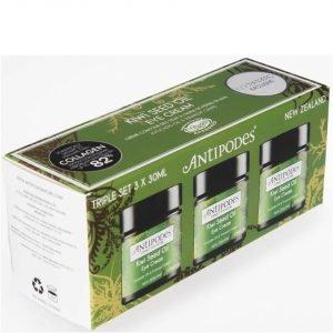 Antipodes Exclusive Triple Pack Kiwi Seed Oil Eye Cream 3 X 30 Ml