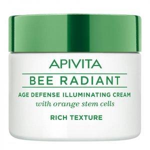 Apivita Bee Radiant Age Defense Illuminating Cream Rich Texture 50 Ml
