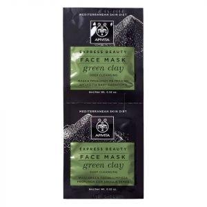 Apivita Express Deep Cleansing Face Mask Green Clay 2x8 Ml