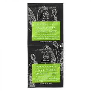 Apivita Express Moisturizing & Soothing Face Mask Prickly Pear 2x8 Ml
