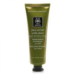 Apivita Face Scrub For Deep Exfoliation Olive 50 Ml