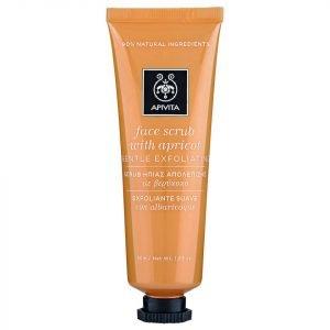 Apivita Face Scrub For Gentle Exfoliation Apricot 50 Ml