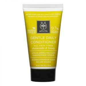 Apivita Holistic Hair Care Mini Gentle Daily Conditioner For All Hair Types German Chamomile & Honey 75 Ml
