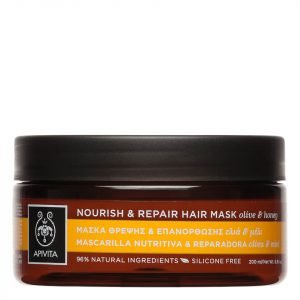Apivita Holistic Hair Care Nourish & Repair Hair Mask Olive & Honey 200 Ml
