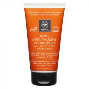 Apivita Holistic Hair Care Shine & Revitalising Conditioner For All Hair Types Orange & Honey 150 Ml