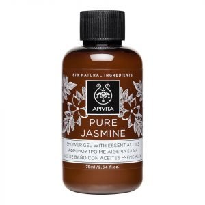 Apivita Pure Jasmine Mini Shower Gel With Essential Oils 75 Ml