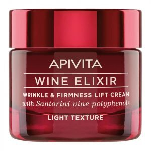 Apivita Wine Elixir Wrinkle & Firmness Lift Cream Light Cream 50 Ml