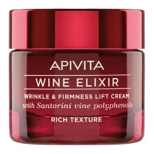 Apivita Wine Elixir Wrinkle & Firmness Lift Cream Rich Texture 50 Ml