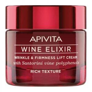 Apivita Wine Elixir Wrinkle & Firmness Lift Cream Rich Texture 50 Ml