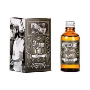 Apothecary87 Beard Oil Unscented Partaöljy 50 ml
