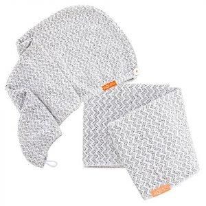 Aquis Lisse Luxe Hair Turban And Hair Towel Chevron