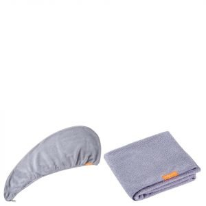Aquis Lisse Luxe Hair Turban And Hair Towel Cloudy Berry Bundle
