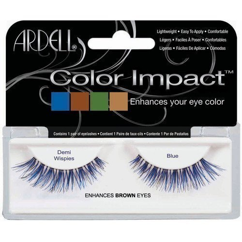 Ardell Color Impact Eyelashes Demi Wispies Blue