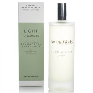 Aromaworks Light Range Room Mist Lemongrass And Bergamot