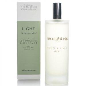 Aromaworks Light Range Room Mist Lemongrass And Bergamot