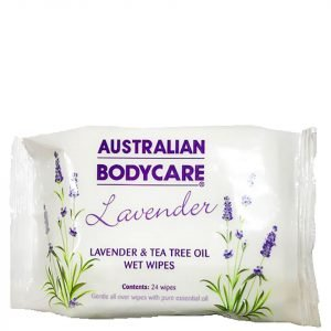 Australian Bodycare Lavender And Tea Tree Oil Wipes 24 Pack