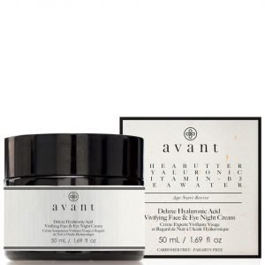 Avant Skincare Deluxe Hyaluronic Acid Vivifying Face And Eye Night Cream 50 Ml