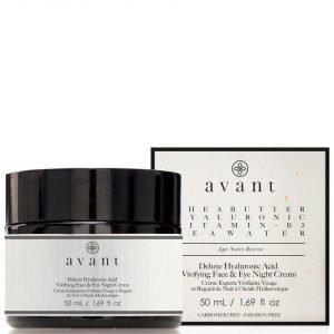 Avant Skincare Deluxe Hyaluronic Acid Vivifying Face And Eye Night Cream 50 Ml