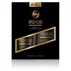 Axe Gold Temptation Suihkugeeli 250 Ml & Body Spray 150 Ml Lahjapakkaus