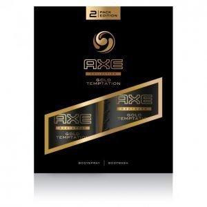 Axe Gold Temptation Suihkugeeli 250 Ml & Body Spray 150 Ml Lahjapakkaus