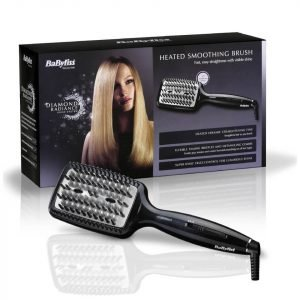 Babyliss Diamond Heated Smoothing Brush Black