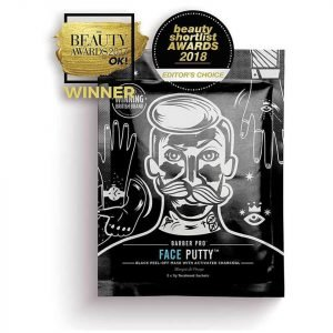 Barber Pro Face Putty Black Peel-Off Mask With Activated Charcoal 3 Applications