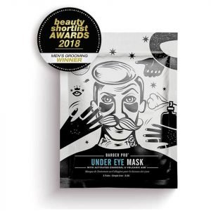 Barber Pro Under Eye Mask With Activated Charcoal And Volcanic Ash 3 Applications