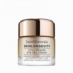 Bareminerals Skinlongevity Vital Power Eye Cream Gel 15 Ml Silmänympärysvoide Valkoinen