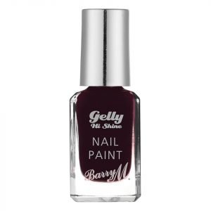 Barry M Cosmetics Gelly Hi Shine Nail Paint Various Shades Black Cherry