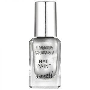 Barry M Cosmetics Liquid Chrome Nail Paint Rain On Me
