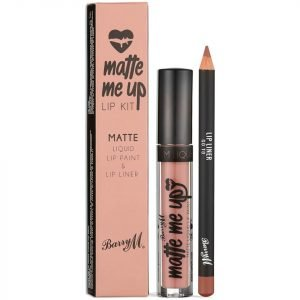 Barry M Cosmetics Matte Me Up Lip Kit Various Shades Go To