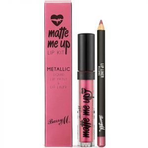 Barry M Cosmetics Matte Me Up Metallic Lip Kit Various Shades Allure