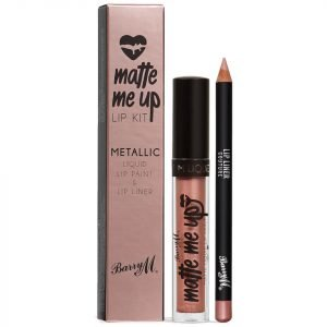 Barry M Cosmetics Matte Me Up Metallic Lip Kit Various Shades Couture