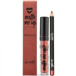 Barry M Cosmetics Matte Me Up Metallic Lip Kit Various Shades Prestige