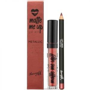 Barry M Cosmetics Matte Me Up Metallic Lip Kit Various Shades Prestige