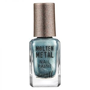 Barry M Cosmetics Molten Metal Nail Paint Blue Glacier